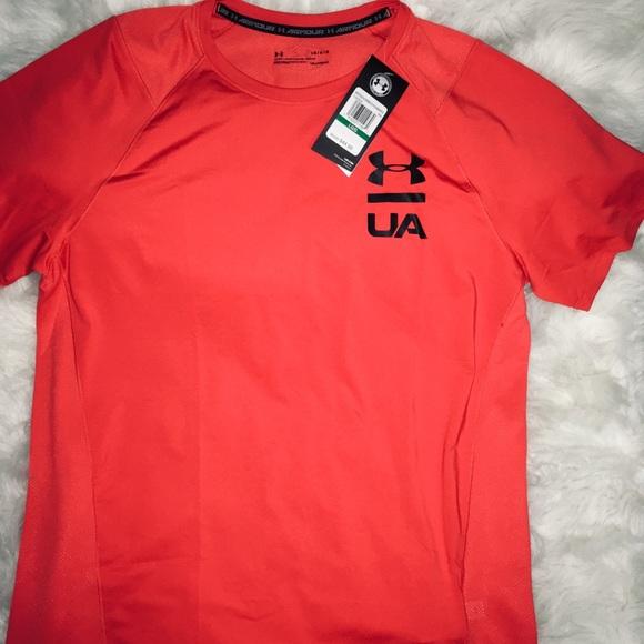 Under Armour Other - Under Armour Deep Orange men's short sleeves sz LG
